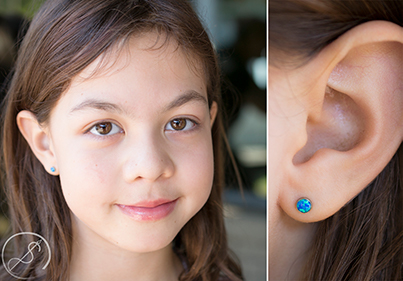 What piercings are allowed for children/teens?