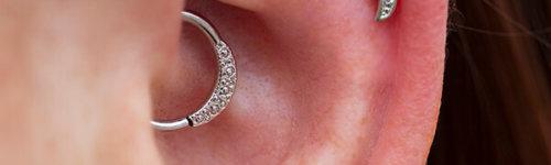 "Janna seam ring without gems, 14k white gold, 16g 3/8"""