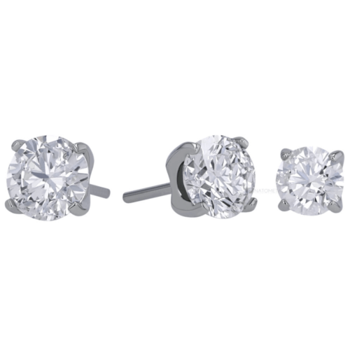 Threadless prong-set Tiffany gem end in titanium